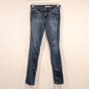 Level 99 Skinny Straight Jeans 29 Med Wash Anthro